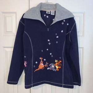 EUC Disney  Character Fleece Pullover Size M.